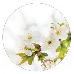 Muurcirkel blossom wit  30 cm IN BESTELLING