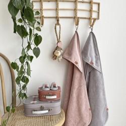 Bambam badcape/ omslagdoek roze